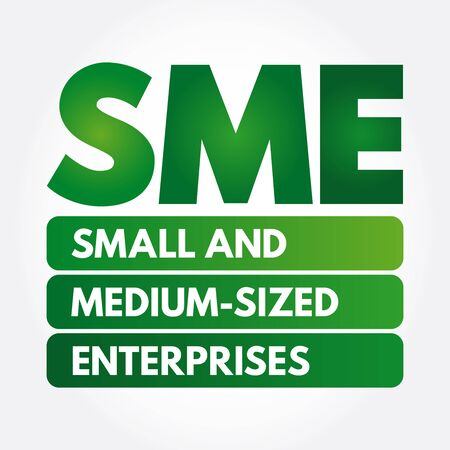 SME - Small And Medium-sized Enterprises acronym, business concept background