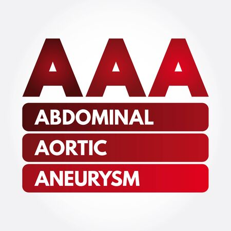 AAA - Abdominal Aortic Aneurysm acronym, medical concept background Фото со стока - 133288160