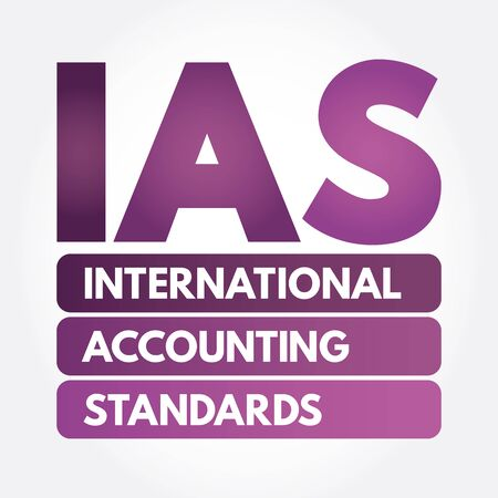 IAS - International Accounting Standards acronym, business concept background Ilustração