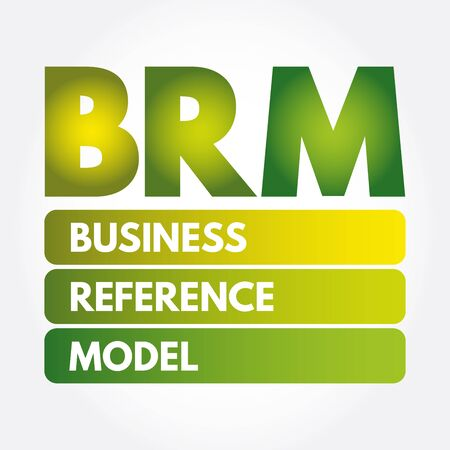 BRM - Business Reference Model acronym, business concept background