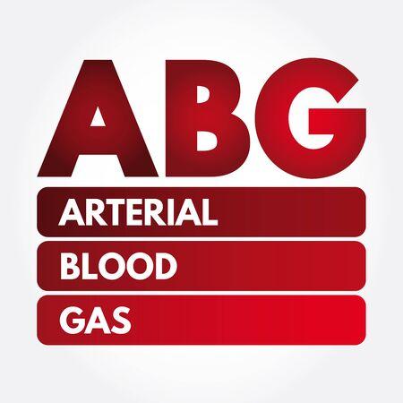 ABG - Arterial Blood Gas acronym, medical concept background