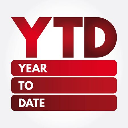 YTD - Year To Date acronym, business concept background