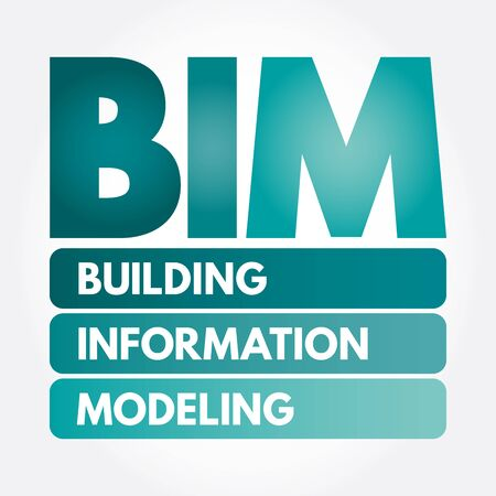 BIM - Building Information Modeling acronym, business concept background