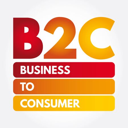 B2C - Business to Consumer acronym, concept background Illustration
