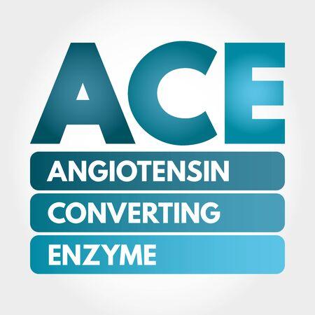 ACE - Angiotensin Converting Enzyme acronym, concept background Illusztráció