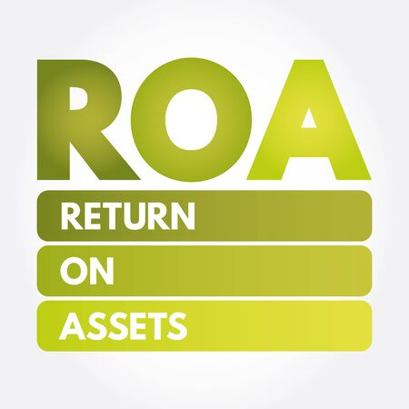 ROA - Return On Assets acronym, business concept background