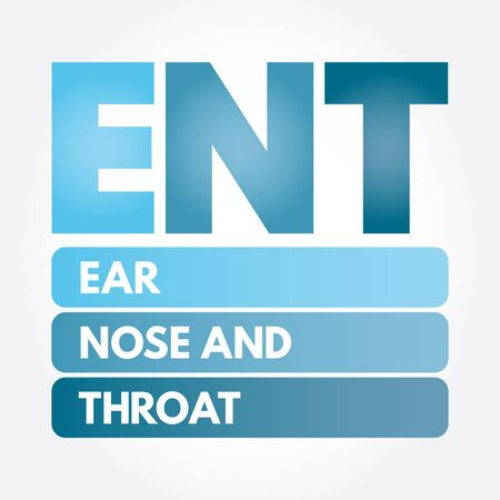ENT - Ear Nose and Throat acronym, health concept background