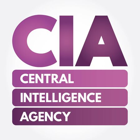 CIA - Central Intelligence Agency acronym, concept background Banco de Imagens - 133200647