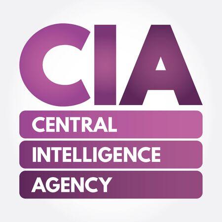 CIA - Central Intelligence Agency acronym, concept background Ilustrace