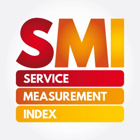 SMI - Service Measurement Index acronym, business concept background Ilustração