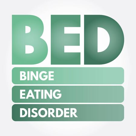 BED - Binge Eating Disorder acronym, health concept background