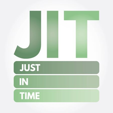JIT - Just in time acronym, business concept background