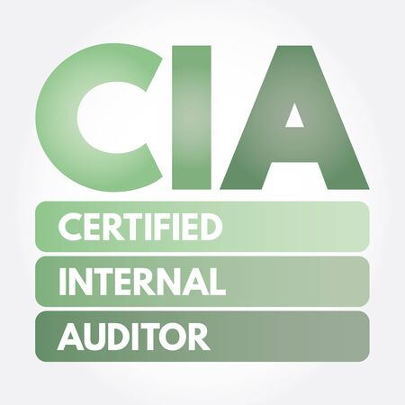 CIA – Certified Internal Auditor acronym, business concept background