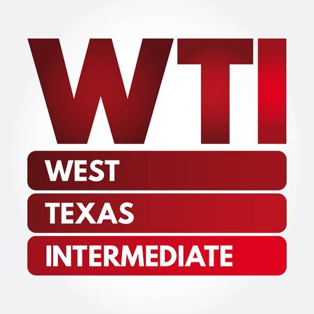 WTI - West Texas Intermediate acronym, concept background