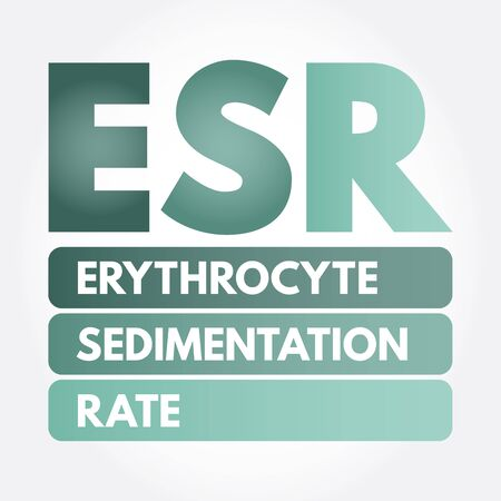 ESR - Erythrocyte Sedimentation Rate acronym, concept background Vectores