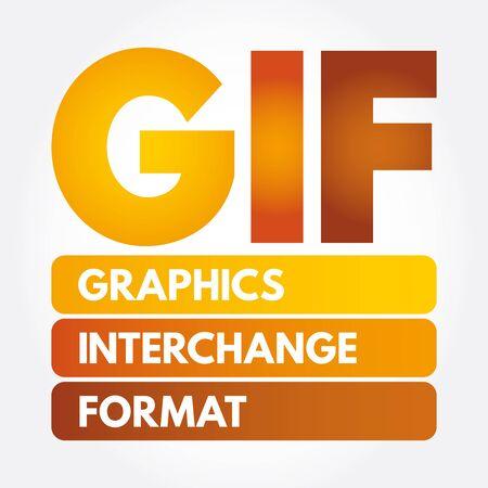 GIF - Graphics Interchange Format acronym, concept background