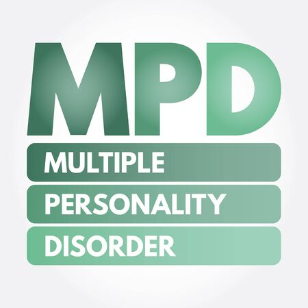 MPD - Multiple Personality Disorder acronym, medical concept background