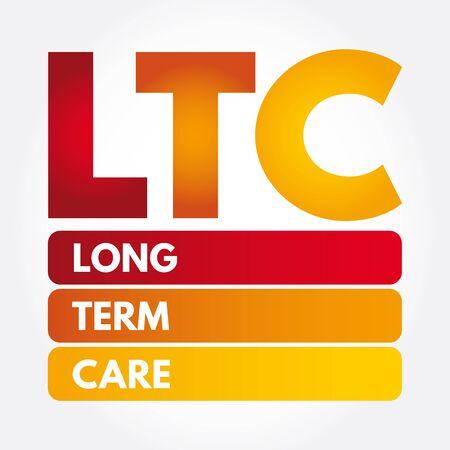 LTC - Long Term Care acronym, medical concept background