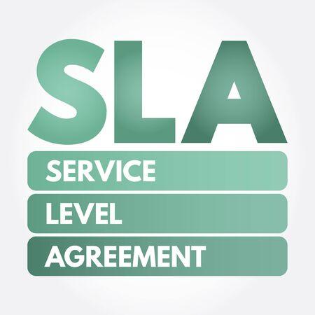 SLA - Service Level Agreement acronym, business concept background