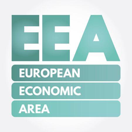 EEA - European Economic Area acronym, business concept background Ilustração