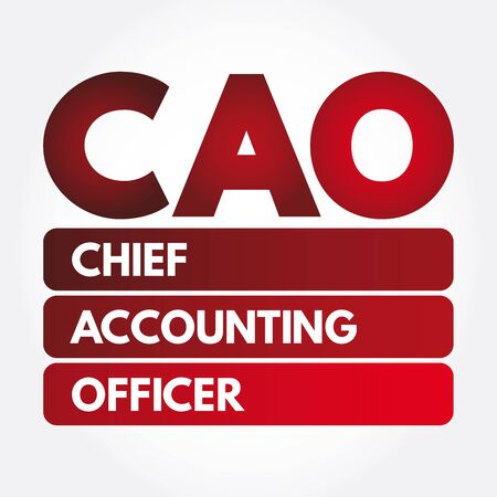 CAO - Chief Accounting Officer acronym, business concept background Illustration