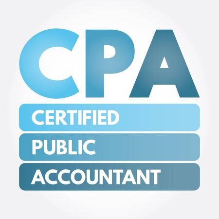 CPA - Certified Public Accountant acronym, business concept background 일러스트