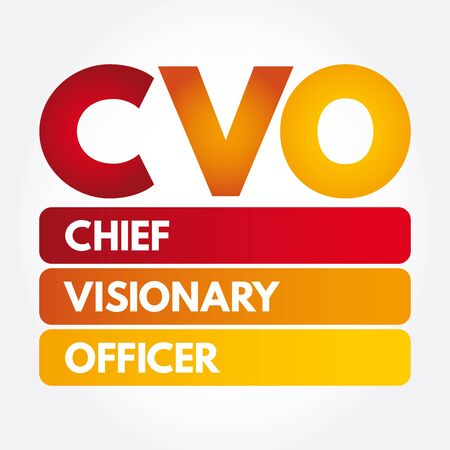CVO - Chief Visionary Officer acronym, business concept background