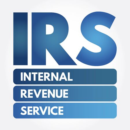 IRS - Internal Revenue Service acronym, business concept background Reklamní fotografie - 133201475