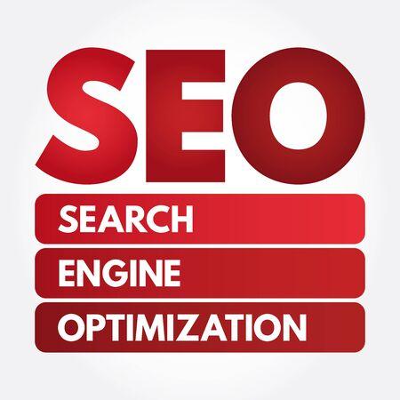 SEO - Search Engine Optimization acronym, business concept background Stok Fotoğraf - 133061349