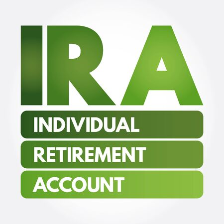 IRA - Individual Retirement Account acronym, concept background