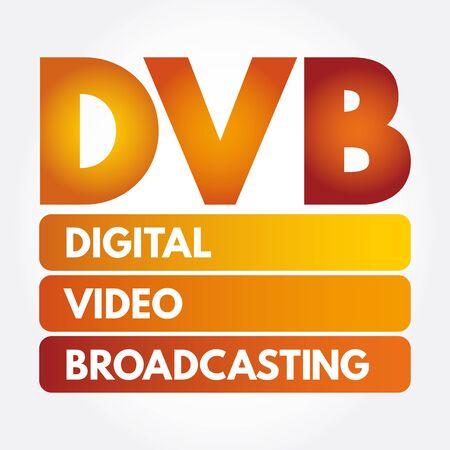 DVB - Digital Video Broadcasting acronym, technology concept background