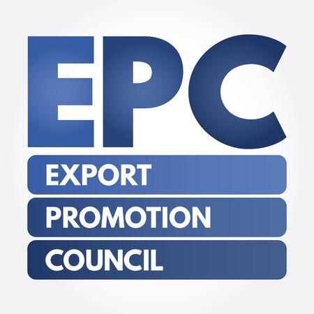 EPC - Export Promotion Council acronym, business concept background
