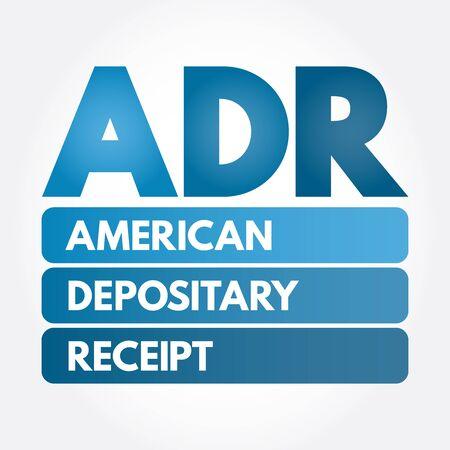 ADR - American Depositary Receipt acronym, business concept background