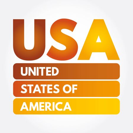 USA - United States of America acronym, concept background