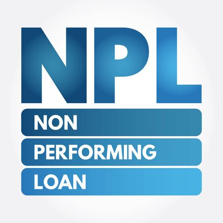 NPL - Non-Performing Loan acronym, business concept background