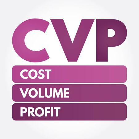 CVP - Cost Volume Profit acronym, business concept background