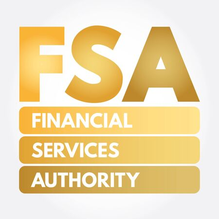 FSA - Financial Services Authority acronym, business concept background Иллюстрация