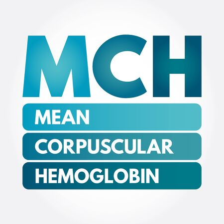 MCH - Mean Corpuscular Hemoglobin acronym, medical concept background