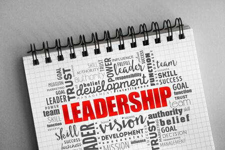 LEADERSHIP word cloud collage, business concept background 写真素材