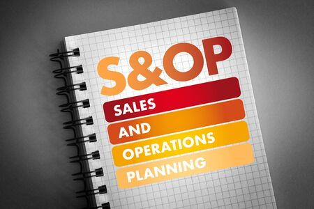 S&OP - Sales and Operations Planning acronym, business concept background