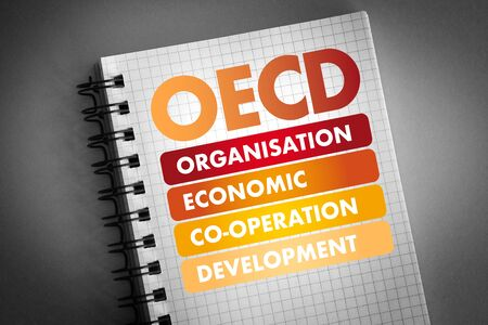 OECD - Organisation for Economic Co-operation and Development acronym, business concept background Stock Photo