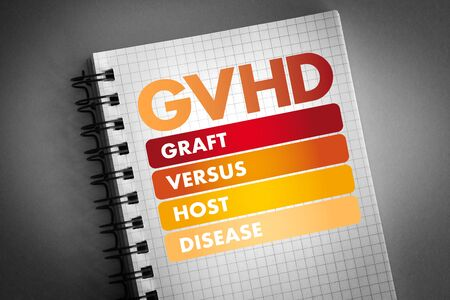 GVHD - Graft-versus-host disease acronym, medical concept background