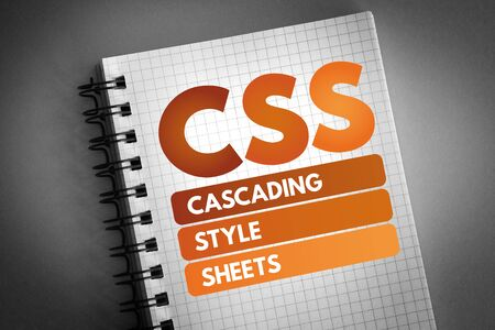 CSS - Cascading Style Sheets acronym, technology concept background