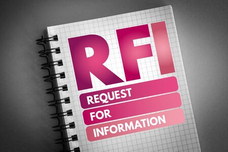 RFI - Request For Information acronym, business concept