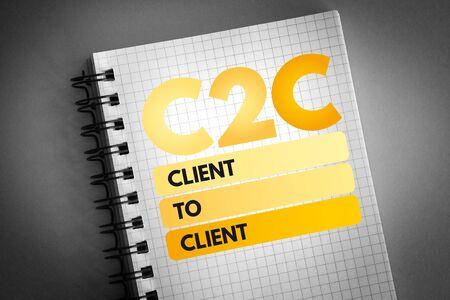 C2C - Client To Client acronym, business concept background Zdjęcie Seryjne