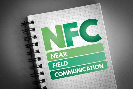 NFC - Near Field Communication acronym, technology concept