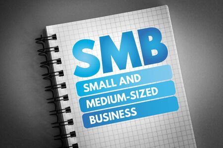 SMB - Small and Medium-Sized Business acronym, business concept