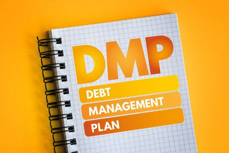 DMP - Debt Management Plan acronym, business concept
