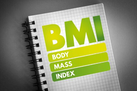 BMI - Body Mass Index acronym, health concept background