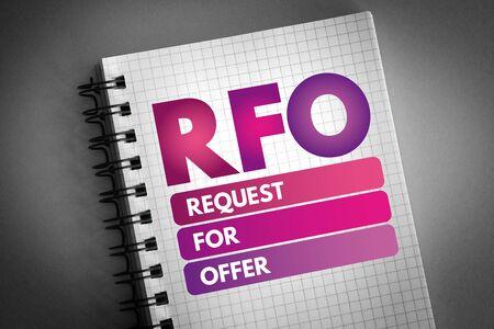 RFO - Request For Offer acronym, business concept Reklamní fotografie